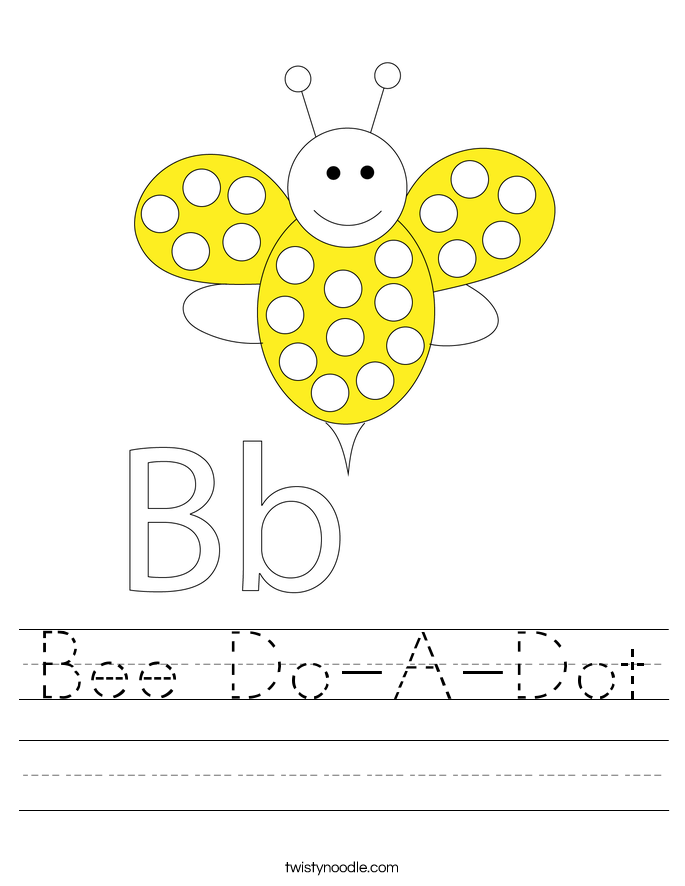 Bee Do-A-Dot Worksheet