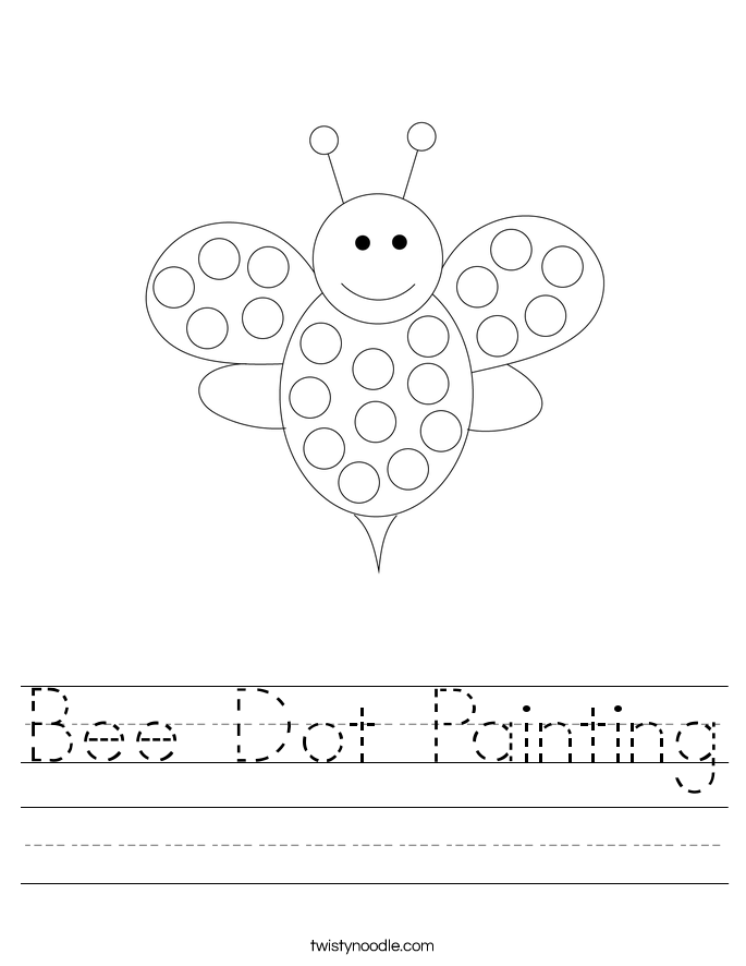 Bee Dot Painting Worksheet