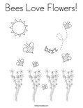 Bees Love Flowers!Coloring Page