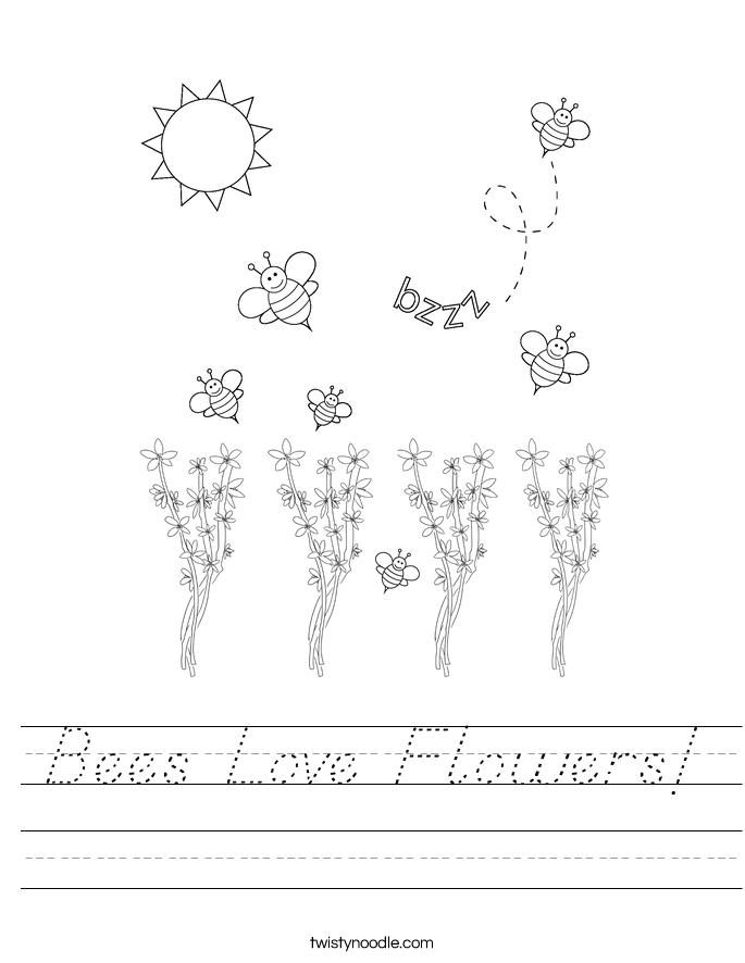 Bees Love Flowers! Worksheet