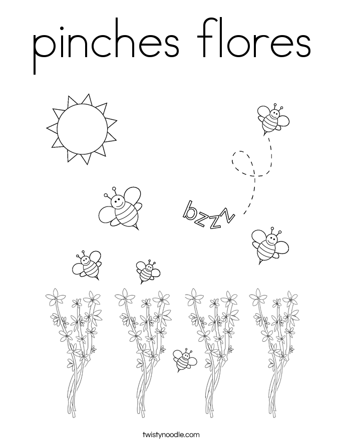pinches flores Coloring Page