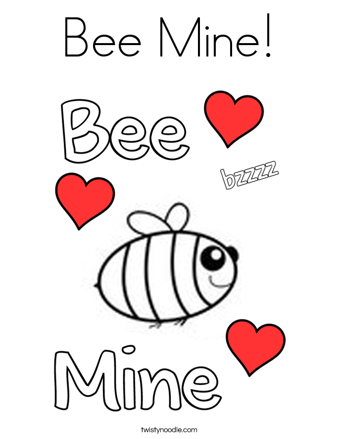 Bee Mine! Coloring Page