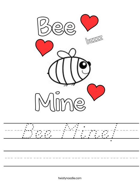 Bee Mine! Worksheet