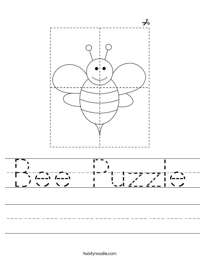Bee Puzzle Worksheet
