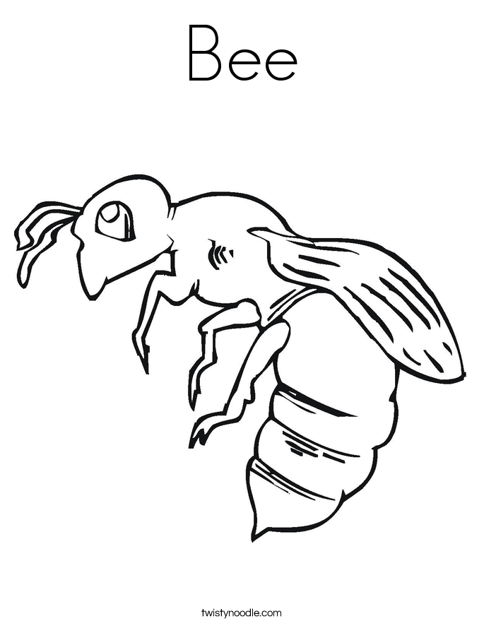 Delicieux Bee Coloring Page