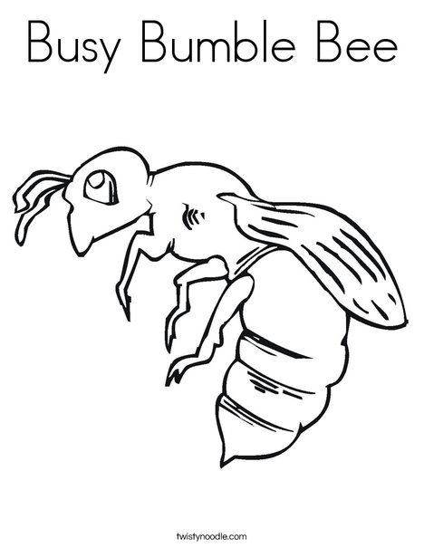 Busy Bumble Bee 2 Coloring Page