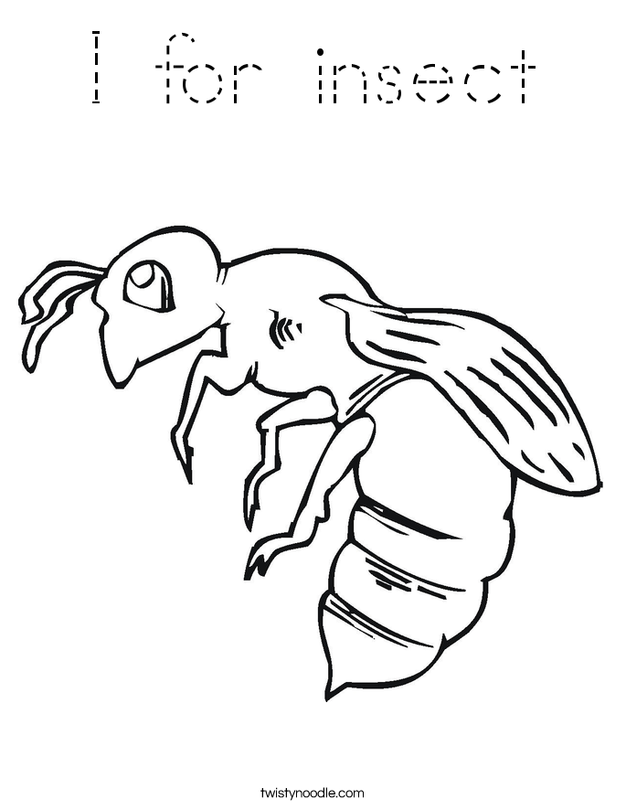 I for insect Coloring Page