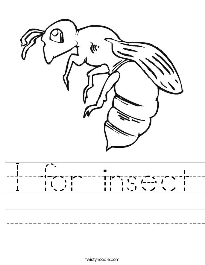 Insect Scramble Worksheet