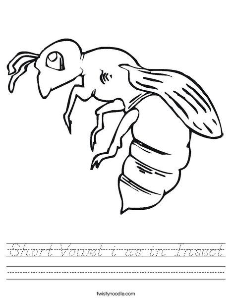 Bee Worksheet