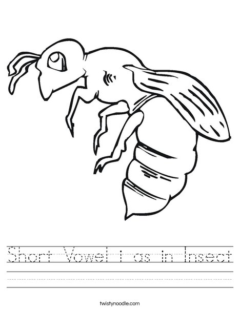Bee Worksheet