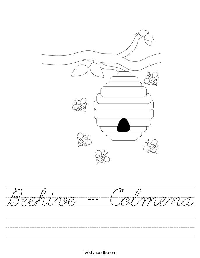 Beehive - Colmena Worksheet