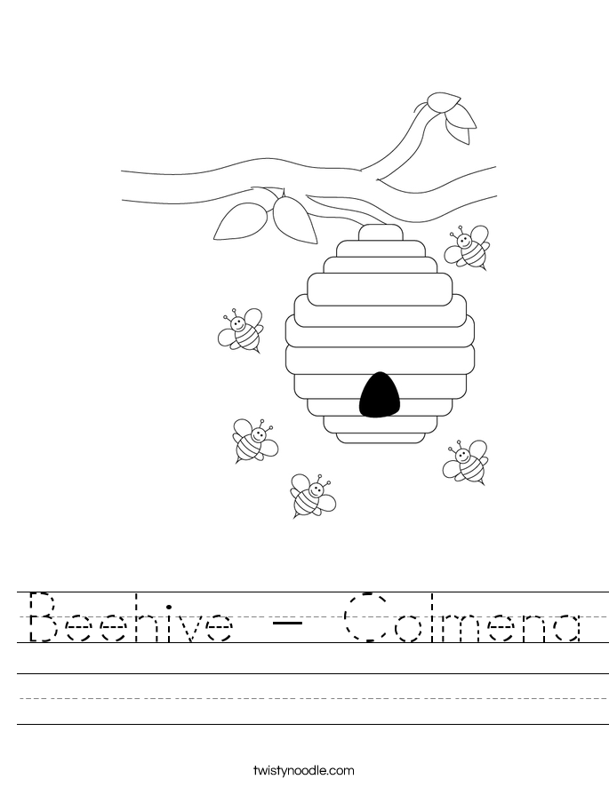 Beehive - Colmena Worksheet