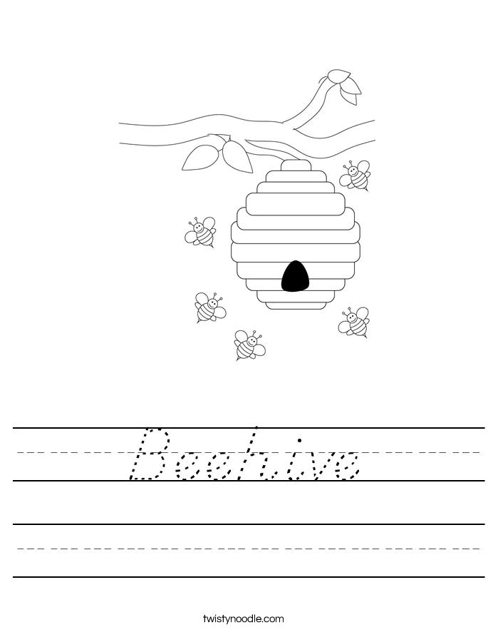 Beehive Worksheet