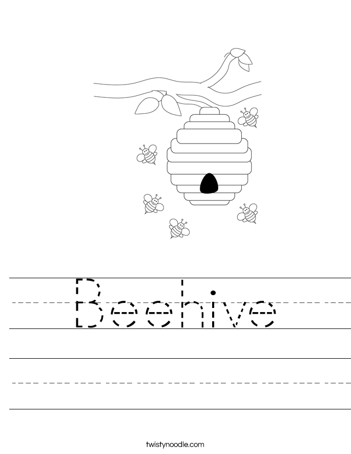 Beehive Worksheet