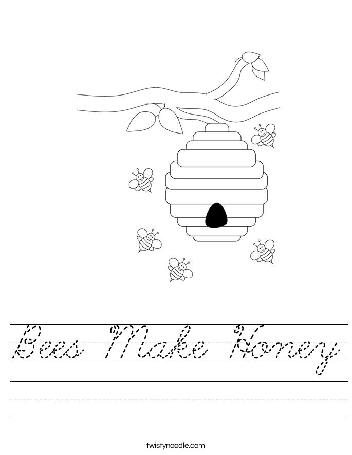 Bees Make Honey Worksheet