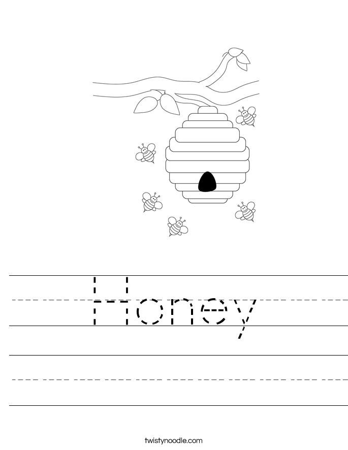 Honey Worksheet