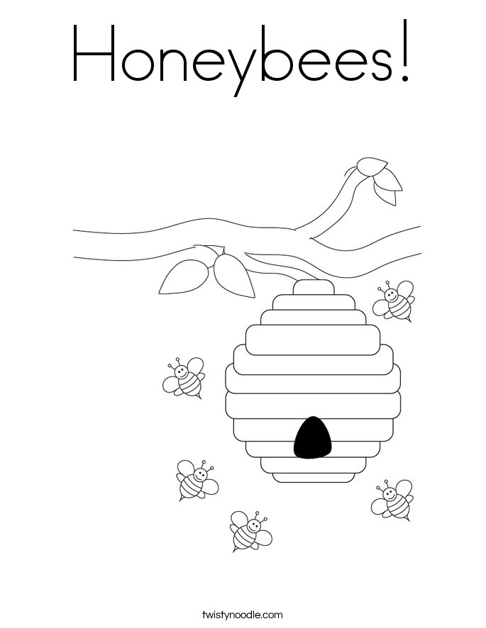 Honeybees! Coloring Page
