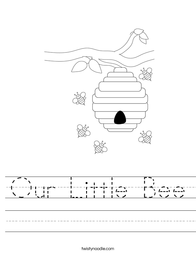 Our Little Bee Worksheet