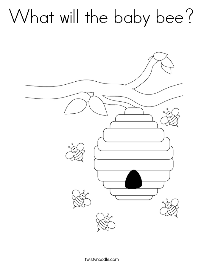 What will the baby bee? Coloring Page
