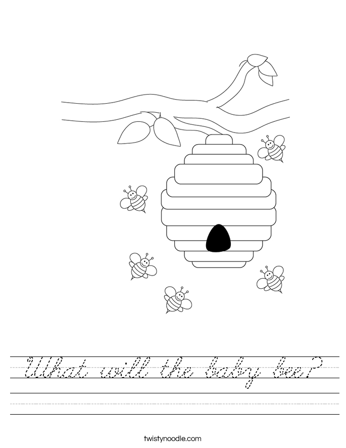 What will the baby bee? Worksheet