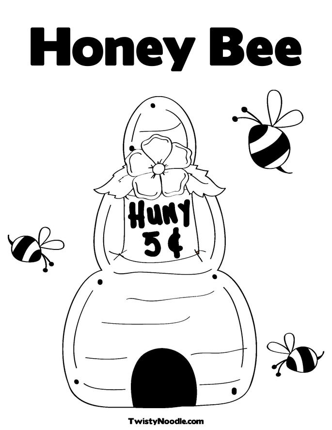 bee hive coloring pages - photo#36