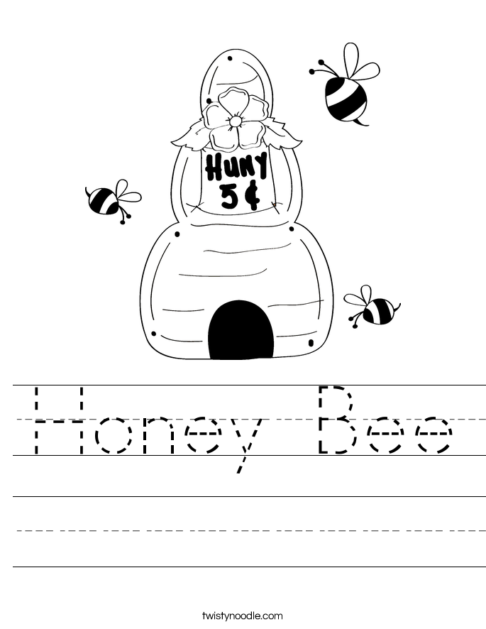 Honey Bee Worksheet
