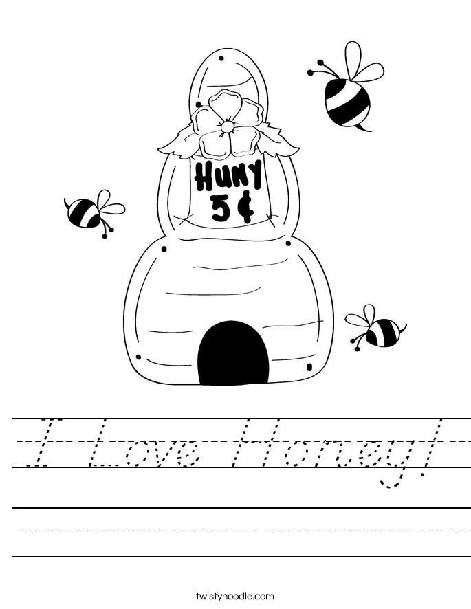 I Love Honey! Worksheet