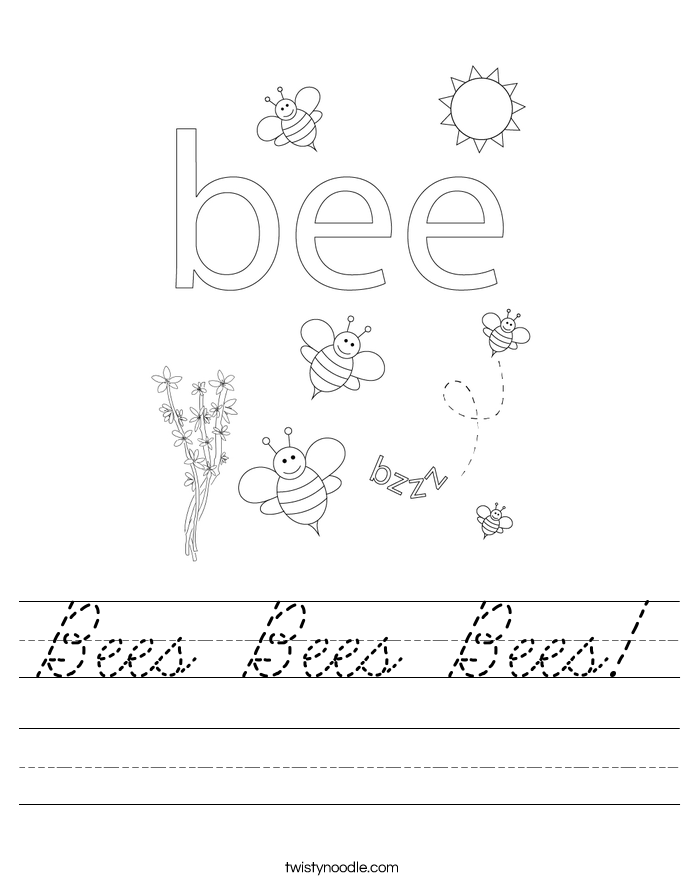 Bees Bees Bees! Worksheet