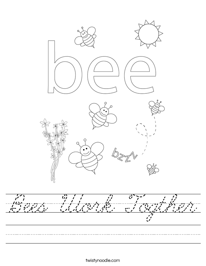 Bees Work Togther Worksheet