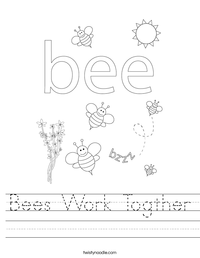 Bees Work Togther Worksheet