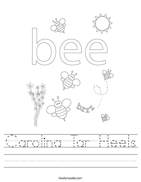 Beehive with honey bees Worksheet