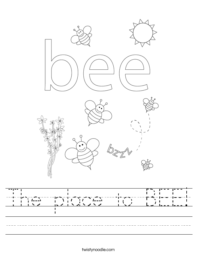 The place to BEE! Worksheet