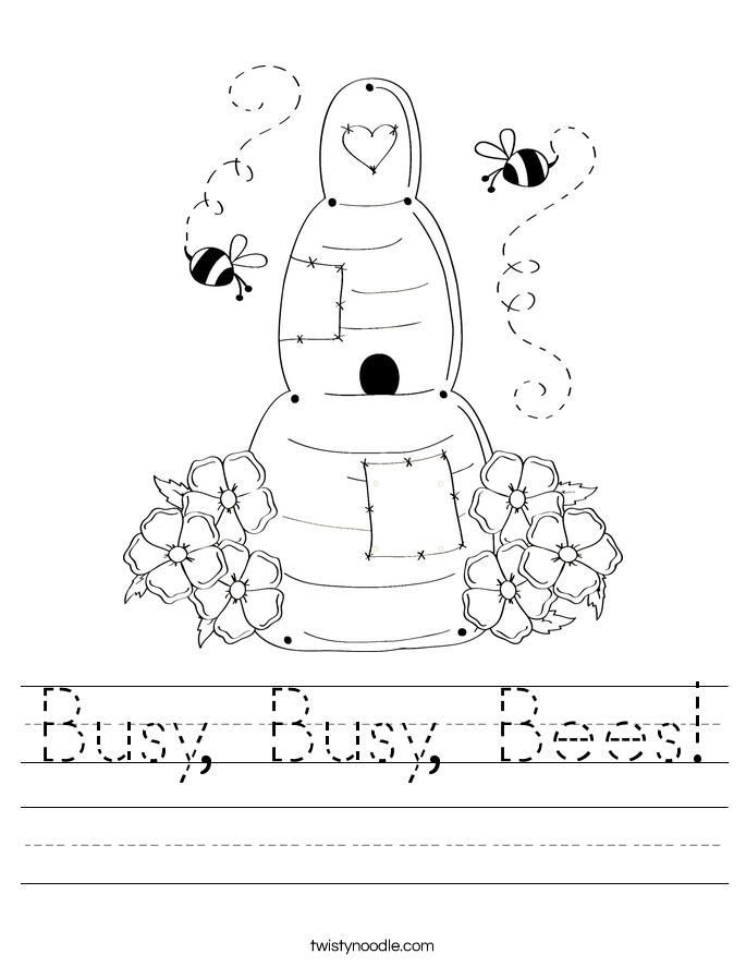Busy Busy Bees Worksheet Twisty Noodle