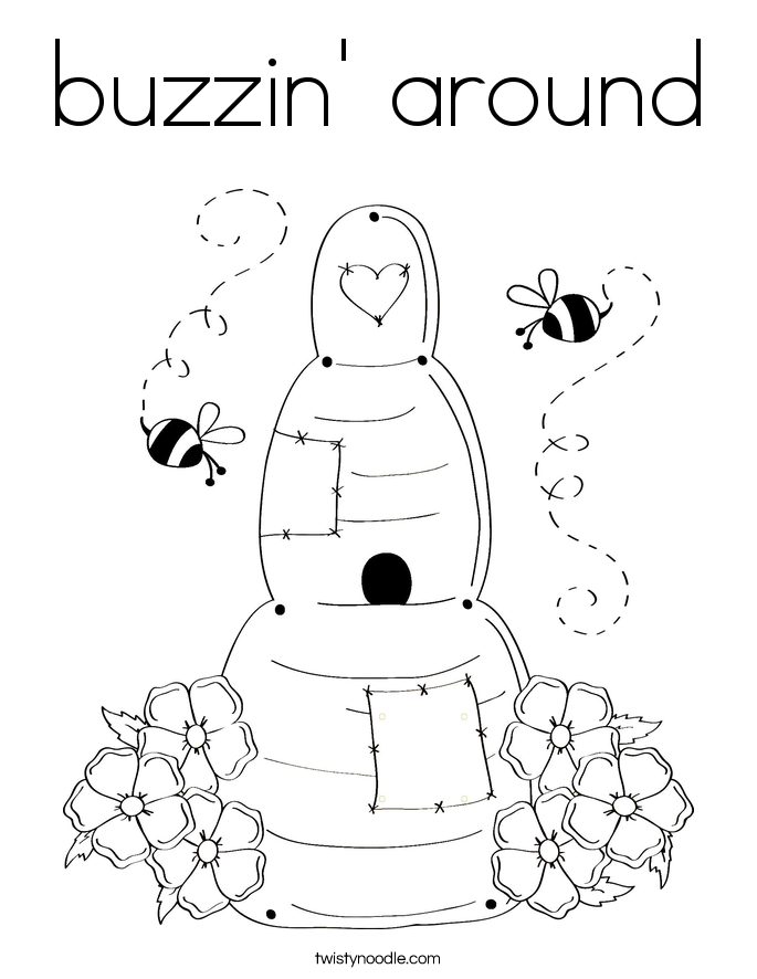 buzzin' around Coloring Page
