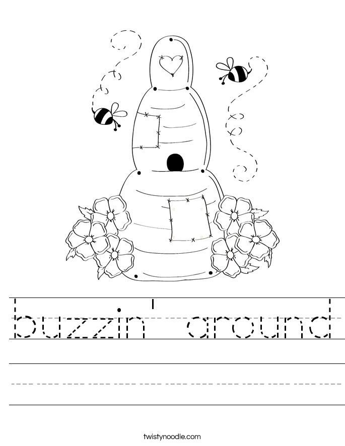 buzzin' around Worksheet