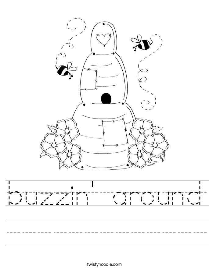 buzzin' around Worksheet