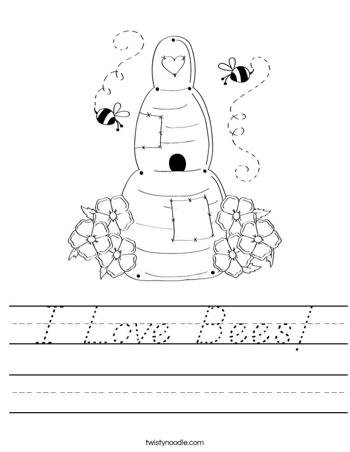 I Love Bees! Worksheet