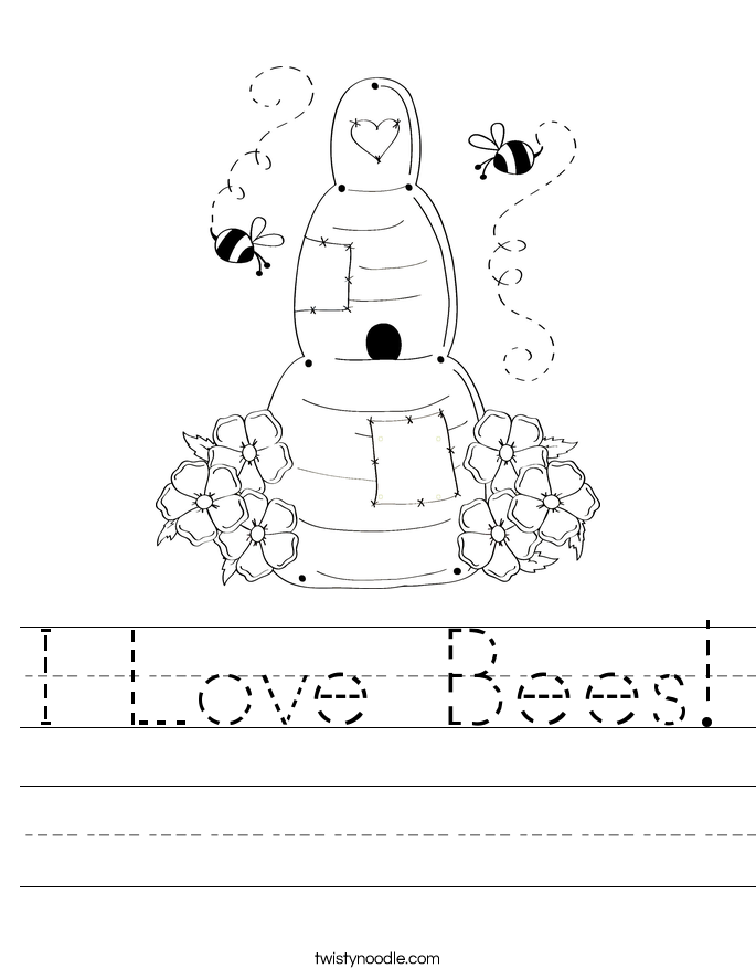 I Love Bees! Worksheet