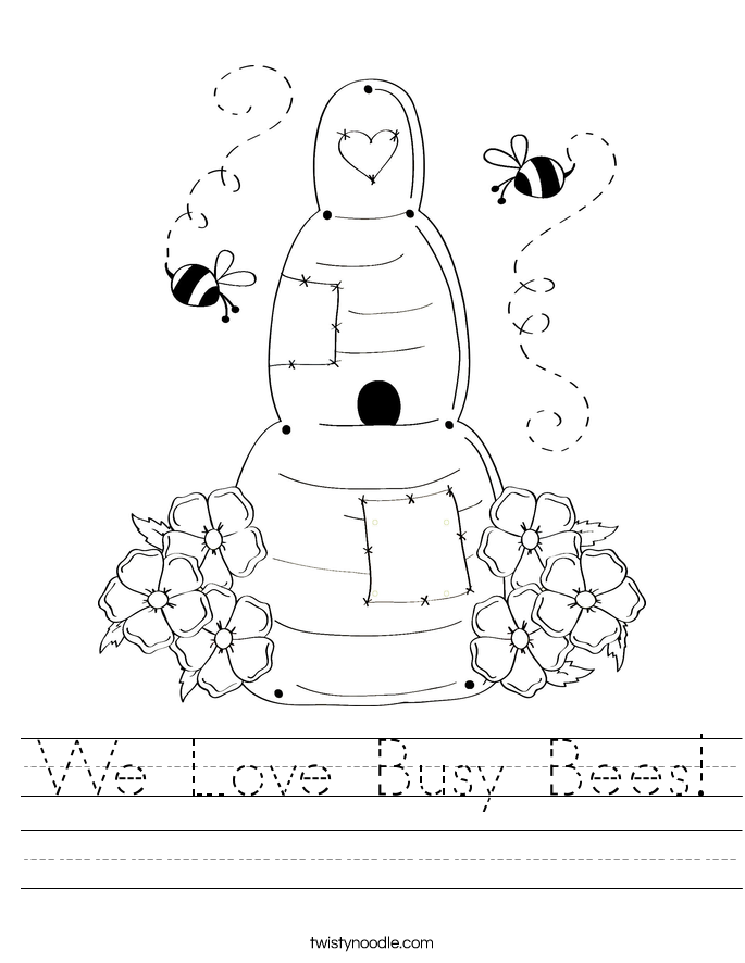 We Love Busy Bees! Worksheet