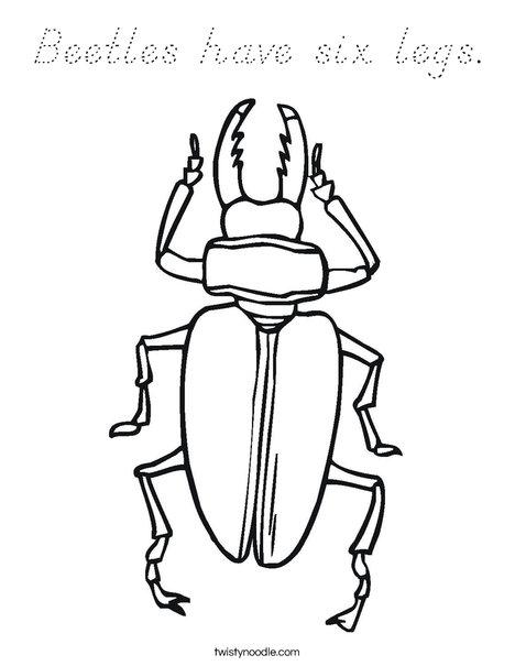Black Beetle Coloring Page
