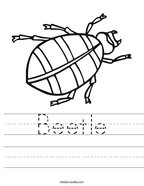 Beetle Handwriting Sheet