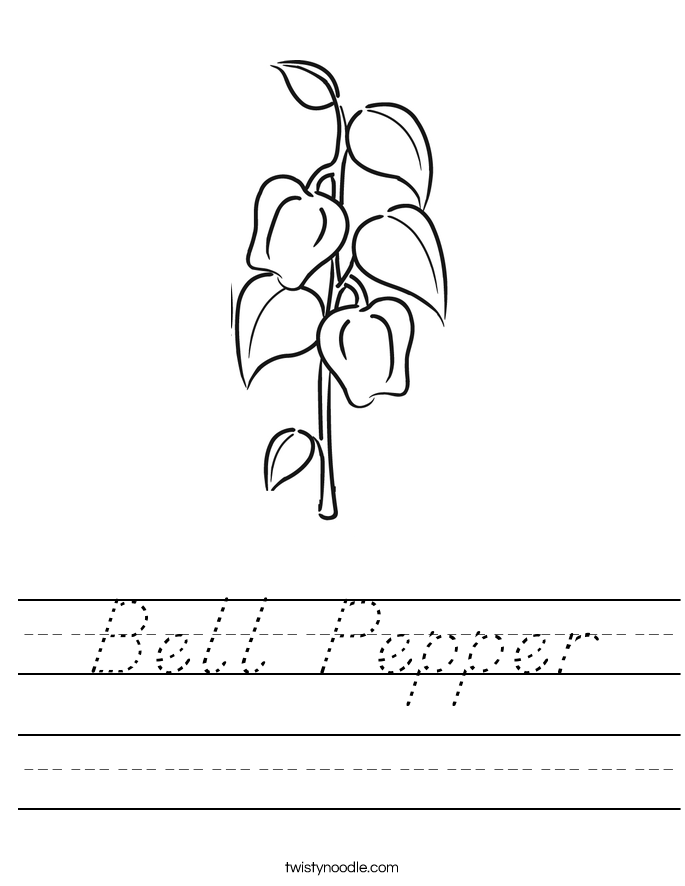 Bell Pepper Worksheet
