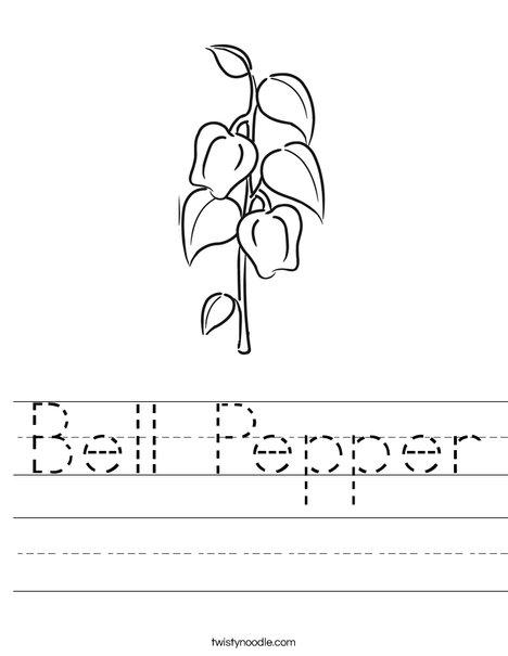 Bell Pepper Worksheet
