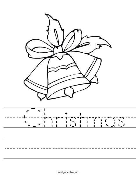 Christmas Worksheets.Christmas Worksheet Twisty Noodle