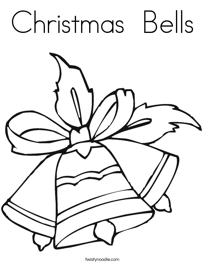 Christmas Bells Coloring Page Twisty Noodle