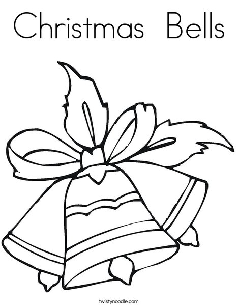 christmas bell coloring picture – littapes.com | 605x468