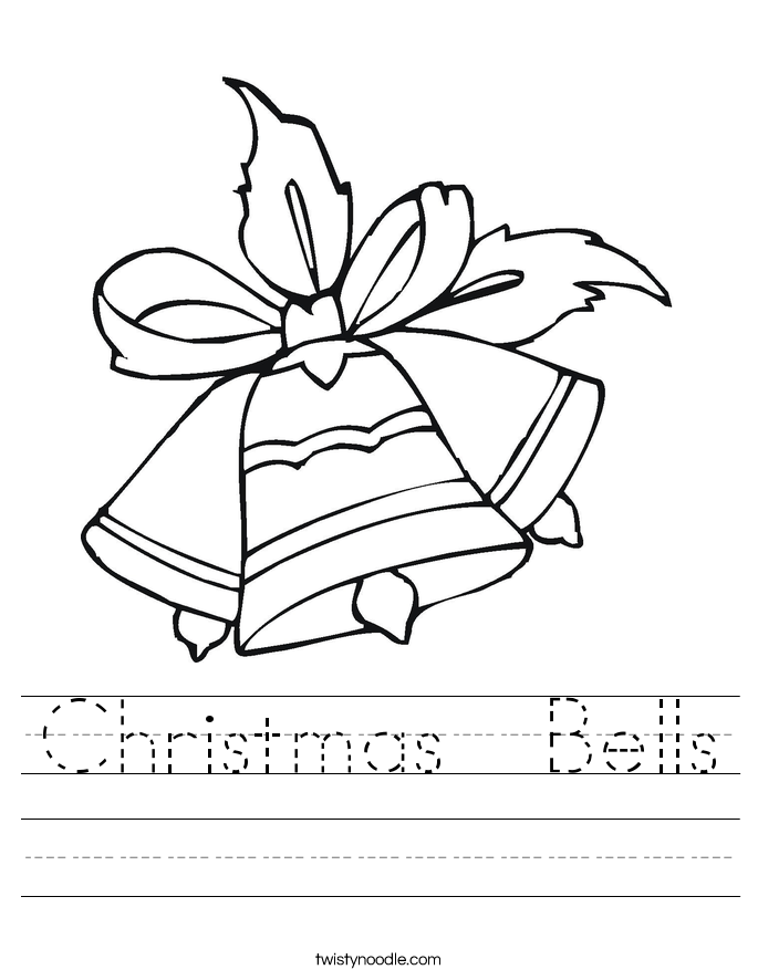 Christmas Bells Worksheet Twisty Noodle – Christmas Worksheet