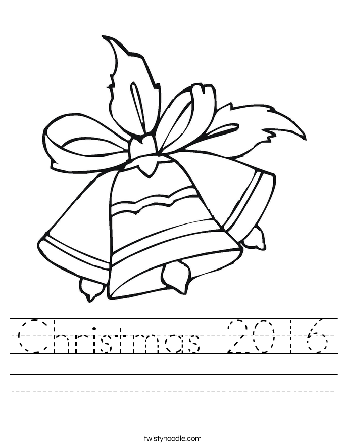 Christmas 2016 Worksheet