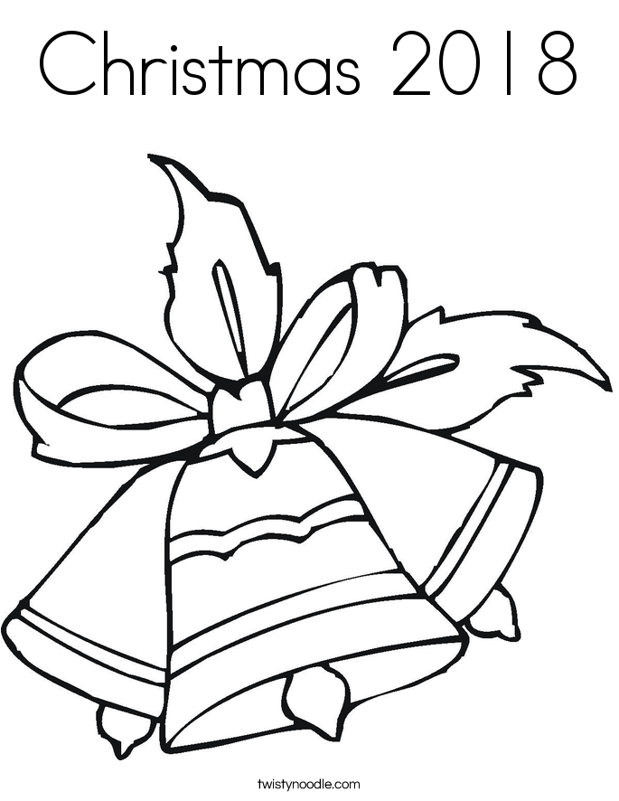Christmas 2018 Coloring Page