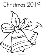 Christmas 2019 Coloring Page